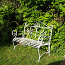 Secret Garden Bench Seat Side View