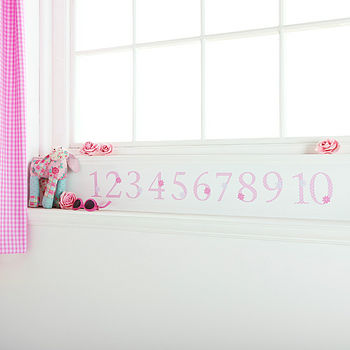 Pink Polka 1-10 Number Wall Stickers