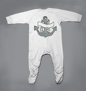 Personalised Anchor Sleepsuit