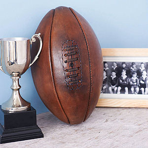 Hand Sewn Leather Rugby Ball - sport-lover