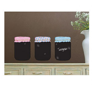 Chalkboard Jam Jars Wall Stickers - chalkboards