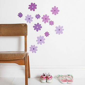 Flower Wall Stickers Lilac