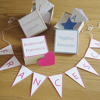 Personalised Bridesmaid Or Pageboy Gift Box