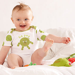 Ha Pea Pure Cotton Short Sleeved Body Suit