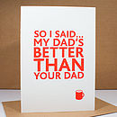 'My Dad' Letterpress Card