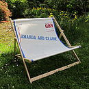 Her and Her's personalised sailcloth double deckchair