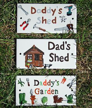Personalised 'Dad's' Plaque