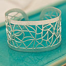 Jali Lattice Cuff Bangle