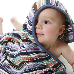 Baby Boys Funky Knitted Blanket - bedding & accessories
