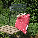 Rectangular Polka Dot Picnic Rug Bag