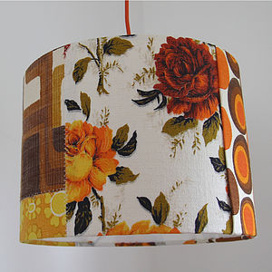 'Folksy Girl' Patchwork Lampshade - children's room accessories