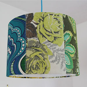 'Desert Rose' Patchwork Lampshade - lighting