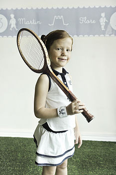 French Design Girls Tennis Top And Skorts