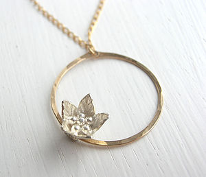 New Bloom Circle Necklace - gifts for her