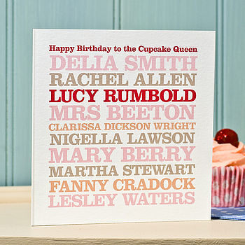 Personalised Female Celebrity Birthday Card