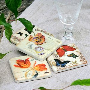 Butterfly And Flower Coasters - tableware