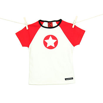 Child's star T Shirt tomato