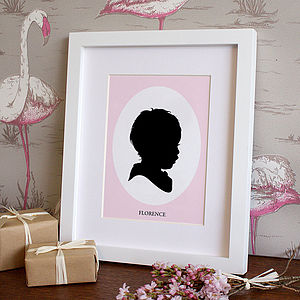 Personalised Traditional Silhouette Print - posters & prints