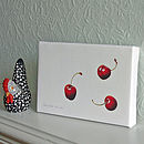 'Three Cherries' Canvas Print