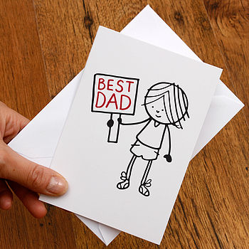 Best Dad Illustrated Fathers Day Card