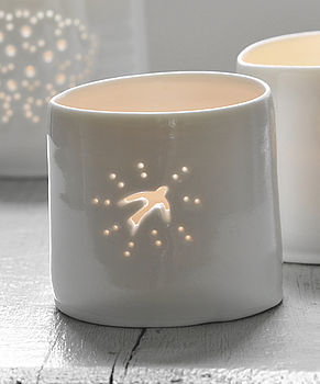 Porcelain Swallow Tea Light