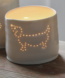 Porcelain Sausage Dog Tea Light - lighting