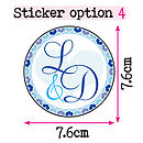 60 Personalised Initial Stickers