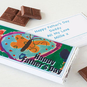 Personalised Child's Drawing Chocolate Bar - chocolates