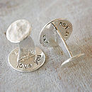 Silver Secret Message Cufflinks