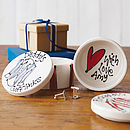 Personalised Ceramic Cufflinks Box