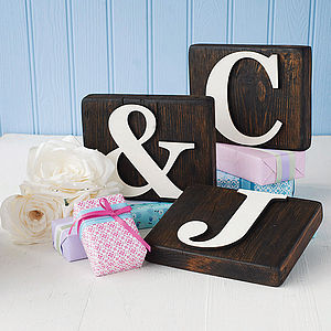 Reclaimed Wooden Block Letters - outdoor decorations