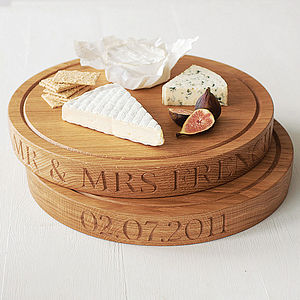 Personalised Round Oak Chopping Board - housewarming gifts