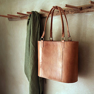 Fair Trade Savannah Leather Shopper Bag - bags & purses