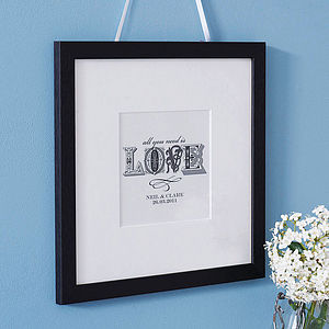 Personalised 'Love' Typographic Print - anniversary prints