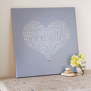Personalised Wedding Word Art Print - art & pictures