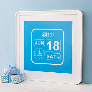 Personalised Special Occasion Clock Poster - new baby gifts
