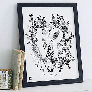 Personalised 'Love' Print