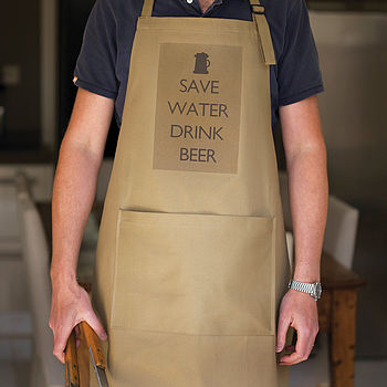 'Save Water Drink Beer' Apron