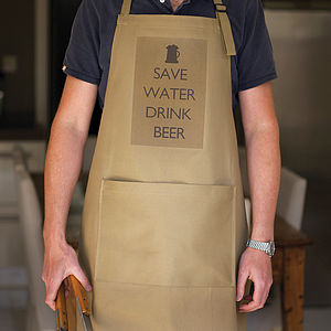 'Save Water Drink Beer' Apron - kitchen accessories