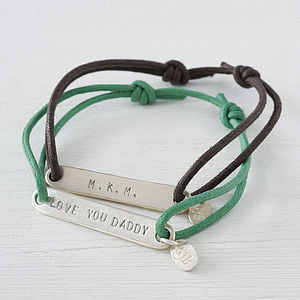 Personalised Silver Identity Bracelet - personalised gifts for dads