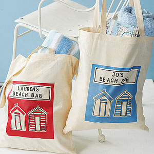 Personalised Beach Bag - women's