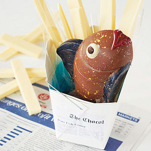 Handmade Chocolate Fish And Chips - novelty chocolates