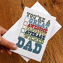You're A Great Dad Card