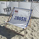 Personalised Recycled Sailcloth Double Deckchair