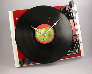 Personalised Vintage Record Player Clocks - living room