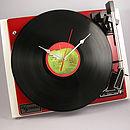 Personalised Vintage Record Player Clocks