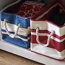 Striped Storage Bag