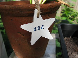 Hand Painted Dad Gift Tag