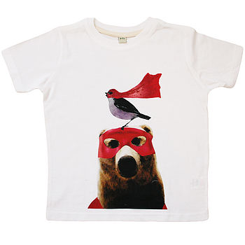 Rocket And Bear Super Hero Organic T
