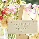 'laughter is the answer'